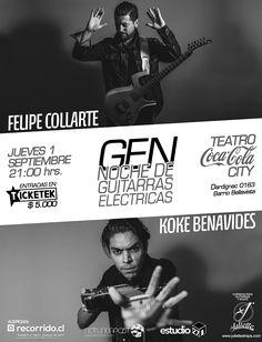 El carácter del blanco y negro… GEN 1º sept. en Teatro Coca Cola City + info en: https://www.facebook.com/events/277970999245931/