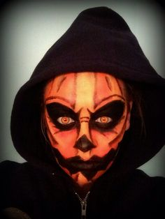Pumpkin Face - Halloween makeup