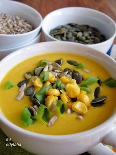 Doskonała zupa krem z kukurydzy. Na jednej miseczce na pewno się nie skończy!