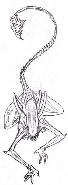 Giger Alien Tattoo Design by ~TheStupidCupid on deviantART. I want this on my foot, with the tail wrapped around my ankle.