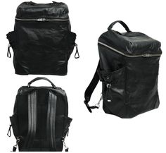 Alexander Wang black leather backpack