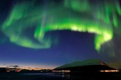 Where to Catch the World's Best Light Show by Kathleen Squires, wsj. Photo via Hurtigruten. #Northern_Lights #Kathleen_Squires #wsj