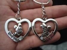 любитель любителей цепочка для ключей подарки пара кольцо для ключей брелок Микки Минни-Маус мыши сердце