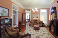 Victorian living room with transoms over doors