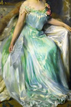 """warpaintpeggy: """" INCREDIBLE DRESSES IN ART (113/∞) Juliet Inness by Irving Ramsey Wiles, 1903 """""""