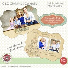 Christmas Photo Card Selection #102 by Captured and Created on Creative Market