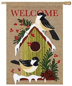 Evergreen Burlap Home Sweet Holiday Home House Flag, 28 x 44 inches, http://www.amazon.com/dp/B00Y3CARS6/ref=cm_sw_r_pi_awdm_pLLzwb0ZV9CKT
