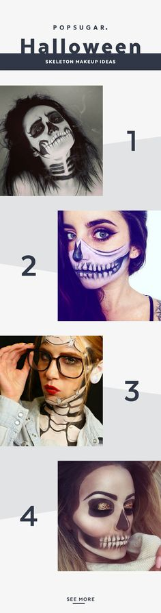60 Terrifyingly Cool Skeleton Makeup Ideas to Try For Halloween