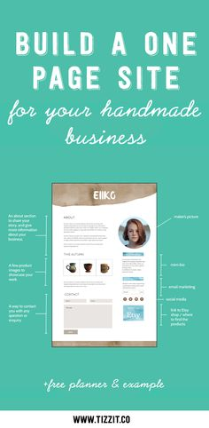 Ready to grow beyond Etsy or to start selling your handmade products online but feeling overwhelmed and not sure where to start? Download this free guide and build a one page site for your handmade business! Click to download now or Pin to access later!