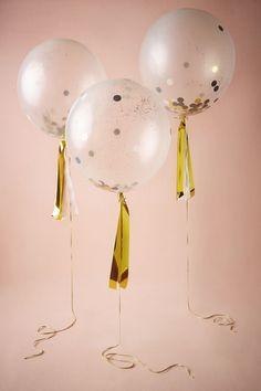 BHLDN Confetti Shine Balloons (8) in  Décor Decorations at BHLDN