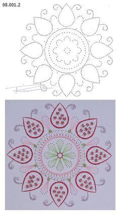 08.001.2 borduren op papier  08.001.2 embroiderie on paper  08.001.2 broderie sur papier