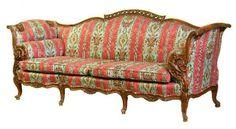 86: French Rococo Walnut Sofa with Bird Motif : Lot 86