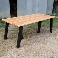 SawHorse Table @HollerDesign Furniture  #madeintheusa