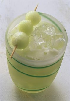 Melon Ball  Ingredients:  - 2 shots Melon Leqeur  - 1 shot Vodka  - 4 shots Pineapple Juice    Preparation:  1 - Fill shaker half way with ice  2 - Pour Ingredients into the shaker  3 - Shake Vigorously  4 - Strain into glass (collins/tall)