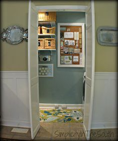 Half-width french doors from bifold