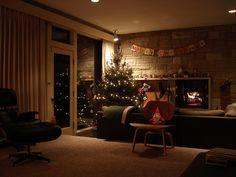 Cozy mid century modern christmas