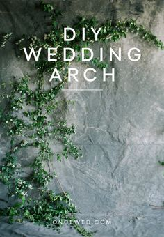 diy floral greenery wedding arch tutorial | via: once wed