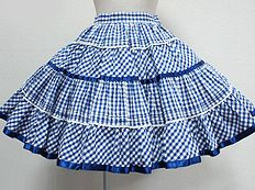 Annie Gingham Tiered Skirt by Angelic Pretty    I love this skirt, in blue or black or maybe even red.  It's so perfectly country.
