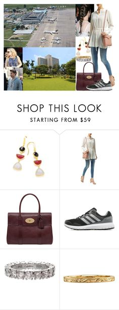 """""""Leaving London and arriving at Entebbe Airport in Kampala, Uganda in the afternoon"""" by marywindsor ❤ liked on Polyvore featuring Reiss, Mulberry, adidas and Cartier"""