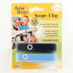 Secure-A-Toy.  Technically not a toy, but our little one loves to chew on it anyway.  Lifesaver for tethering toys to the stroller, car seat, high chairs -- any place where a toy could easily fall overboard and get lost or hit a dirty floor.  Lead free, BPA free, phalate free, and made in the USA.