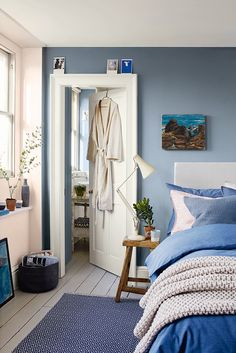 denim drift is the perfect shade for a bedroom and will help you create a cosy