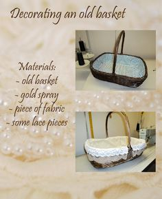 How to decorate an old basket and use it to keep magazines or newspapers :) Simple and nice