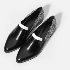 Tri Tone Loafers - Black - Flats - Shoes | CHARLES & KEITH