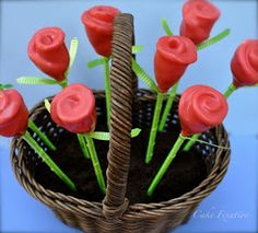 Cake Fixation: How to Make Rose Cake Pops