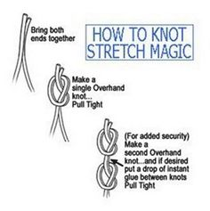 """Stretch Magic is perfect for making stretchy jewelry! This roll contains 25 meters of 1 mm diameter stretchy beading cord. Stretch Magic is strong and stretchy and easy to knot! Thickness: 1mm/.039"""" L"""