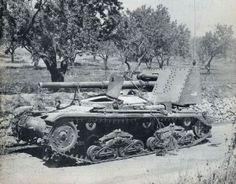 Italian semovente M41M - Sicily 1943, pin by Paolo Marzioli