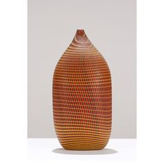 Lino Tagliapietra, Italy; b. 1934, Vessel, 1998, blown and carved glass, 17 1/2