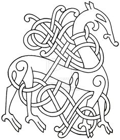 viking style line drawing - Google Search
