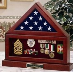 Flag and Pedestal Display Cases - Military Flag Displays, American Flag Display Cases Medal Display Case, Display Cases, Marine Corps, Military Shadow Box, Wood Online, Diy Shadow Box, Military Gifts, Military Retirement, Military Flags
