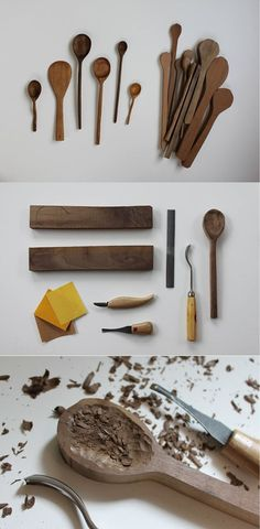 Easy DIY Woodworking Project for the Kitchen | DIY Wooden Spoon by DIY Ready at http://diyready.com/easy-woodworking-projects/