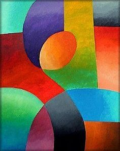 Detail Image for art Lost In Thought Abstract Geometric Art, Abstract Wall Art, Small Canvas Art, Art Corner, Art Drawings For Kids, Mosaic Art, Art Lessons, Painting & Drawing, Paintings