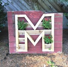 monogram planter, container gardening, gardening, how to, woodworking projects