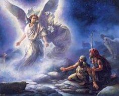de engel kwam bij de herders om het goede nieuws te vertellen