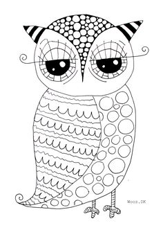 print coloring image patterns - Cute Owl Printable Coloring Pages