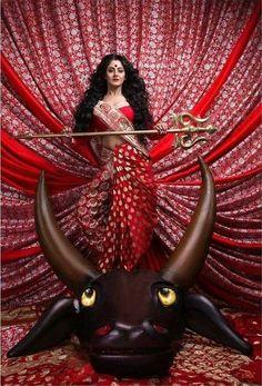 Image may contain: 1 person Indian Goddess Kali, Durga Goddess, Indian Gods, Indian Art, Durga Images, Lord Shiva Hd Images, Kali Hindu, Hindu Art, Durga Ji