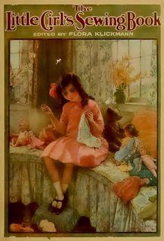 The Little Girls Sewing Book Flora Klickmann by CollectableMrJones