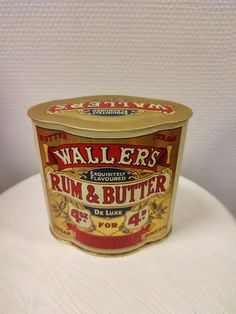 Wallers rum Rum Butter, Flavored Butter, Coffee Cans, Retro Vintage, Canning, Cream, Creme Caramel, Home Canning, Conservation
