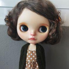 Custom Blythe Art Doll By Stable House No.138 Base doll : Neo Blythe Lavender Hug (100% Takara Blythe Doll) • Work Done • : Sleep eyes with 2 New