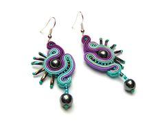 Sutasz-Anka   Bluebird - earrings http://www.soutage.com/2012/12/bluebird-kolczyki.html#more
