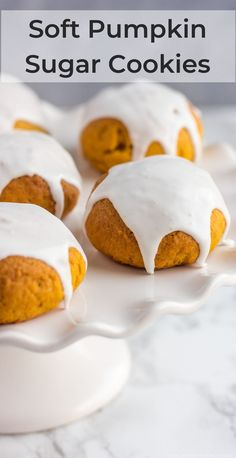 These soft vegan Pumpkin Sugar Cookies are simple yet delicious recipe you can enjoy for breakfast or snack. Baked in no time and finished with a drizzle of aquafaba glaze, these cookies are fun to make and perfect for holidays. Clean Pumpkin Recipes, Easy Cookie Recipes, Dessert Recipes, Pumpkin Sugar Cookies, Almond Cookies, Pumpkin Breakfast, Pumpkin Dessert, Vegan Pumpkin, Baked Pumpkin