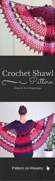 Crochet Shawl Pattern on Ravelry. Beautiful shawl, easy to make. Fully Written. Fully Charted.
