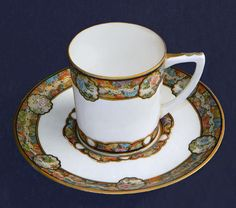 Antique Japanese Satsuma Cup and Saucer - Signed twice