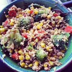 """Healthy """"Fried"""" Rice and Stir Fry:  #healthy #nutrition #cleaneating #fitspo #diet"""