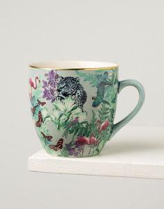 FLAMINGO XL mug turquoise Indiska