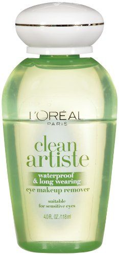 L'Oreal Paris Clean Artiste Eye Makeup Remover, Waterproof/Long Wearing, 4-Fluid Ounce
