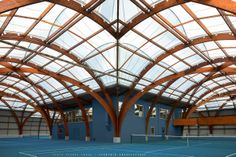 Tennis alert. This modern and beautifully designed indoor court is the place to be.